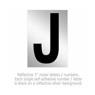 Salsbury 1215-J 3 Inch Reflective Letter J