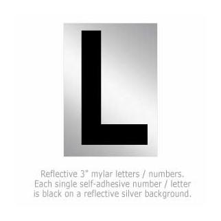 Salsbury 1215-L 3 Inch Reflective Letter L