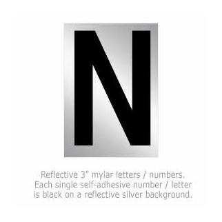 Salsbury 1215-N 3 Inch Reflective Letter N