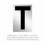 Salsbury 1215-T 3 Inch Reflective Letter T
