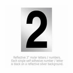 Salsbury 1215-2 Reflective Number 2 (3 Inch)