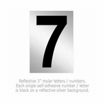 Salsbury 1215-7 Reflective Number 7 (3 Inch)