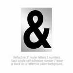 Salsbury 1215-AMP 3 Inch Reflective Punctuation Mark Ampersand
