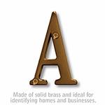 3 Inch Solid Brass Letter Antique Finish A