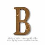 3 Inch Solid Brass Letter Antique Finish B