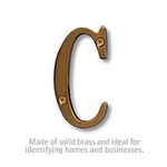 3 Inch Solid Brass Letter Antique Finish C