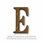 3 Inch Solid Brass Letter Antique Finish E
