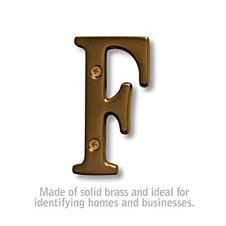 Salsbury 1240A-F 3 Inch Solid Brass Letter Antique Finish F