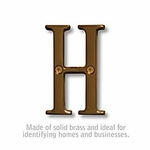 3 Inch Solid Brass Letter Antique Finish H