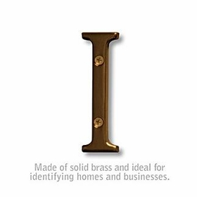 Salsbury 1240A-I 3 Inch Solid Brass Letter Antique Finish I
