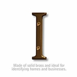 3 Inch Solid Brass Letter Antique Finish I