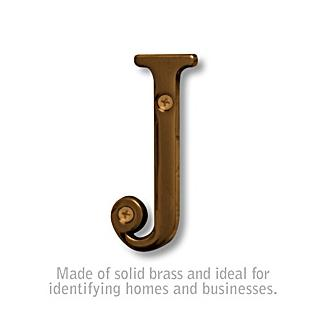 Salsbury 1240A-J 3 Inch Solid Brass Letter Antique Finish J