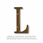 3 Inch Solid Brass Letter Antique Finish L