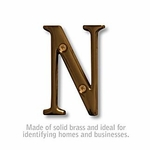 3 Inch Solid Brass Letter Antique Finish N