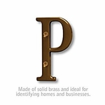 3 Inch Solid Brass Letter Antique Finish P