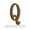 Salsbury 1240A-Q 3 Inch Solid Brass Letter Antique Finish Q