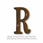 3 Inch Solid Brass Letter Antique Finish R