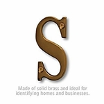 3 Inch Solid Brass Letter Antique Finish S
