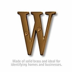 3 Inch Solid Brass Letter Antique Finish W