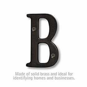 Salsbury 1240BLK-B 3 Inch Solid Brass Letter Black Finish B