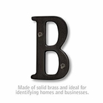 3 Inch Solid Brass Letter Black Finish B