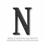 3 Inch Solid Brass Letter Black Finish N