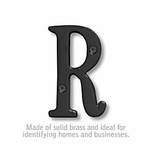 3 Inch Solid Brass Letter Black Finish R