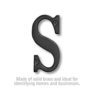 Salsbury 1240BLK-S 3 Inch Solid Brass Letter Black Finish S
