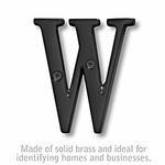 Salsbury 1240BLK-W 3 Inch Solid Brass Letter Black Finish W