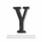3 Inch Solid Brass Letter Black Finish Y