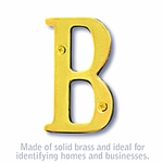 3 Inch Solid Brass Letter Brass Finish B