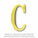 3 Inch Solid Brass Letter Brass Finish C