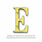 3 Inch Solid Brass Letter Brass Finish E