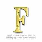 3 Inch Solid Brass Letter Brass Finish F