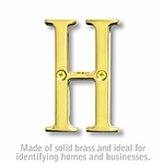 3 Inch Solid Brass Letter Brass Finish H