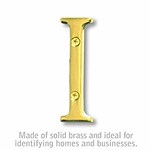 3 Inch Solid Brass Letter Brass Finish I