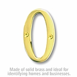 Salsbury 1240B-O 3 Inch Solid Brass Letter Brass Finish O