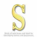 3 Inch Solid Brass Letter Brass Finish S