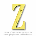 3 Inch Solid Brass Letter Brass Finish Z