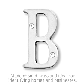 Salsbury 1240C-B 3 Inch Solid Brass Letter Chrome Finish B
