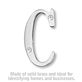 Salsbury 1240C-C 3 Inch Solid Brass Letter Chrome Finish C