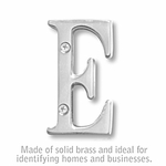 3 Inch Solid Brass Letter Chrome Finish E