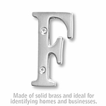 3 Inch Solid Brass Letter Chrome Finish F