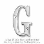 3 Inch Solid Brass Letter Chrome Finish G