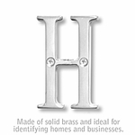 3 Inch Solid Brass Letter Chrome Finish H
