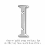 3 Inch Solid Brass Letter Chrome Finish I