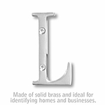3 Inch Solid Brass Letter Chrome Finish L