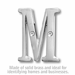 3 Inch Solid Brass Letter Chrome Finish M