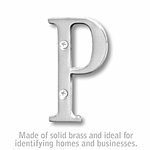 3 Inch Solid Brass Letter Chrome Finish P
