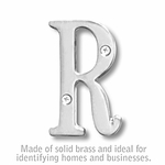 Salsbury 1240C-R 3 Inch Solid Brass Letter Chrome Finish R